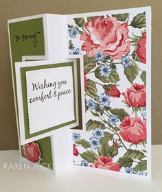 Altered Scrapbooking: Roses Sympathy Card Trio