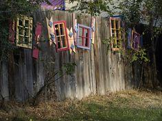 Well, now I know what to do if I get a hole in my fence :) -From Twisp, Washington 'Fence Art'