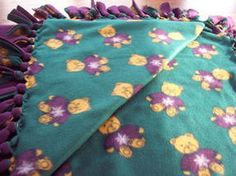 No-sew fleece blankets- 'sew' easy to make!
