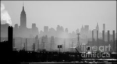 Industrial And Corporate - photograph by James Aiken james-aiken.artistwebsites.com #jamesaiken #nycskyline #newyorkcity #skyline