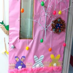 Easter classroom door