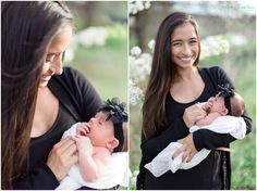 Mommy and me photos! So much fun with this momma and her newborn! Spring family sessions are the best!