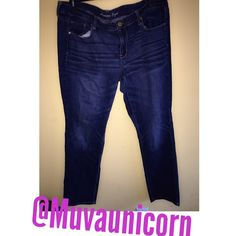 American eagle blue jeans Size 18 regular skinny cut jeans condition 9/10 used moderate American Eagle Outfitters Jeans Skinny
