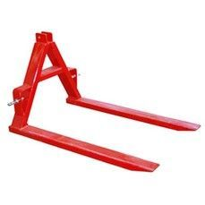 Farm tractor 3 point hitch implement attachment equipment 2000lb rear pallet forks. An excellent way to quickly move round bale hay rolls out to livestock, plus have it at the ready to use much like a heavy duty carry all.