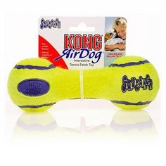 Pet KONG Air Dog Squeaker Dumbbell Dog Toy, Hidden squeaker toy and tennis ball, Size: Small Supply Store/Shop -- Continue to the product at the image link. (This is an affiliate link) #Pets