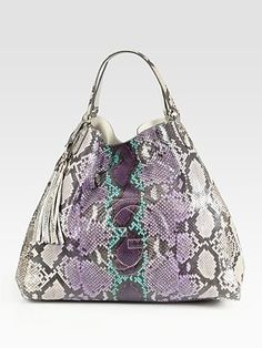 Gucci  Soho Large Python Shoulder Bag  ($4500) -- OH MY, I LIKEY.