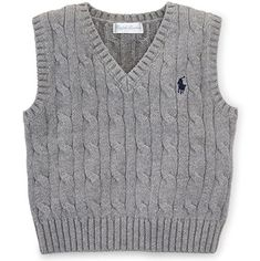 Ralph Lauren Baby Boys' Cable-Knit Cotton Sweater Vest Ralph Lauren Baby Boys' Cable-Knit Cotton Sweater Vest The clothing culture … Baby Boys, Baby Boy Vest, Toddler Vest, Baby Boy Sweater, Cotton Vest, Cotton Sweater, Ralph Lauren, Baby Boy Christmas Outfit, Baby Pullover