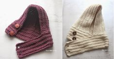 Hooded Crochet Cowl with Lion Brand Thick & Quick Yarn #Scarfie