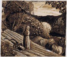 Samuel Palmer, 'Landscape, Girl Standing' c.1826