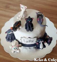pastel de gatitos
