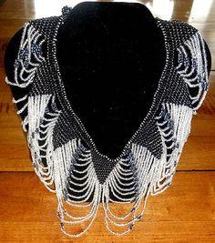 Art Deco Beaded Collar Necklace