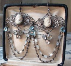 antique assemblage earrings  VICTORIAN LACE  by The French Circus, $145.00