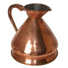 Antique English Victorian Loftus Copper Harvest Jug/Gallon Ale Measure c. 1860