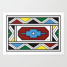 Ndebele Print Canvas Print by Sherwin Engelbrecht - LARGE Canvas Prints, Art Prints, Latest Generation, Buy Frames, Printing Process, Laptop Sleeves, Memory Foam, Just For You, Clip Art