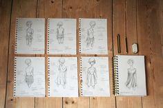 Avant la couture, il y a eu les dessins… Soutenez-nous sur Kiss Kiss Bank Bank <3 http://www.kisskissbankbank.com/eglantine-et-zoe-kits-de-vetements-prets-a-coudre #vagabonde #toupie #millefeuille #eglantineetzoe #pretacoudre #france #madeinfrance #box #fashionbox #fashion #vetements #sewing #couture #fabric #premices #diy #kisskissbankbank
