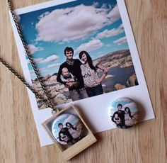 Such a cute idea! Custom Personalized Polaroid Necklace by vividotstore on Etsy, $32.00
