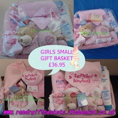 Small basket available in boys or girls only www.randrgiftbaskets.thebasket.co.uk Cost included mainland UK (EX Scottish Highlands) 2-3 day courier delivery contact us for other areas andcountries
