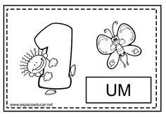 Boa noite, gente querida do Espaço Educar! Hoje trouxe para vocês atividades para colorir os numerais. Você também pode utilizar como carta...