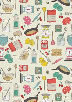 So its shrove Tuesday! Are you having pancakes today? Heres a little print I created to go with the sweet theme of the day! Food Patterns, Kids Patterns, Textures Patterns, Print Patterns, Kitchen Art, Food Illustrations, Pattern Wallpaper, Cute Wallpapers, Iphone Wallpaper