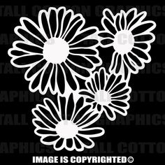 DAISIES Vinyl Decal for Car or Truck Windows, Laptops, Computer Cases or ... #F001