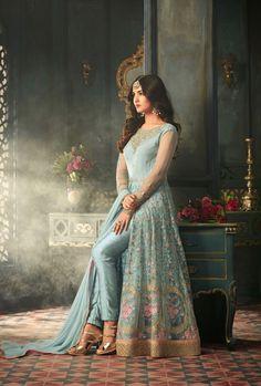 7026c23609 Designer Anarkali Dresses, Designer Salwar Suits, Designer Dresses, Slit  Dress, Salwar Kameez