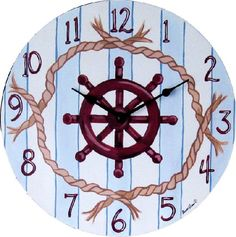 Gigi Brooks provides anyone with babies & children in their lives with an expertly curated collection of luxury nursery furniture, exquisite interiors & gifts. Nautical Clocks, Nautical Nursery, Clock Face Printable, Printable Wall Art, Shabby Chic Clock, Abc Wall, Clock Painting, Diy Clock, Antique Clocks