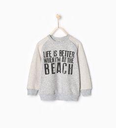 ZARA - KIDS - Life is better sweatshirt