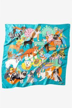 Karen Mabon 'Fancy Dress' silk scarf | Godiva Boutique