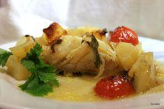 Filetto di stoccafisso con patate al forno
