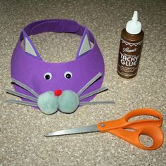 Find out how to create this fun cat visor using craft foam and a few other supplies.: Finishing the Cat Craft Foam Visor