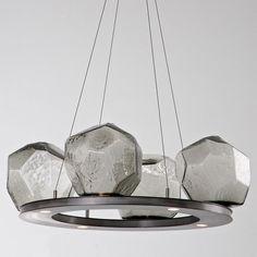Gem Bezel Ring LED Chandelier by Hammerton Studio.  4/8/12/16 lights. Dining Rm