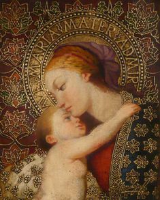 Catholic Art, Religious Art, Religious Icons, Madona, Image Pieuse, Religious Pictures, Madonna And Child, Holy Family, Divine Mother