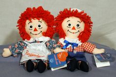 Raggedy Ann & Andy. I made up a nursery set from this theme and these very dolls in High school design class