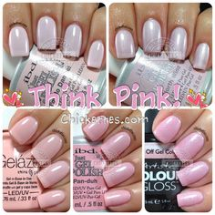Chickettes.com Light Pink Gel Polish Swatches