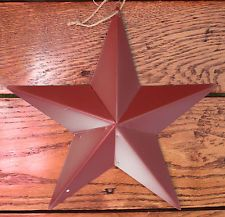 """New Tin Metal Dark Red Hanging Star 9.5"""" Country Decorative Accent Rustic Style $4.00 BIN ebay"""