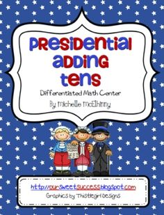 This  is a  president themed math center activity that is aligned with the common core state standards.