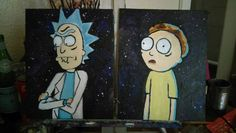 Aw Jeez Rick! Someone made us into Fine Art! This set of canvas boards include your two favorite inter-dimensional travelers! Each Portrait is on a 8x10 inch canvas board which is easy to frame yourself via placing in a picture frame! Rick and Morty can be placed in a Fine Art landscape, a Galaxy or a Custom background by request.