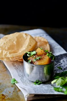 potatoes with cumin spiced tomato gravy