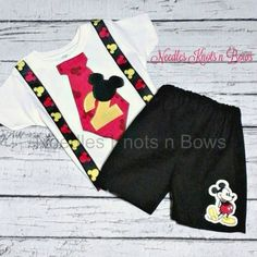 Boys mickey mouse 2nd birthday outfit, mickey mouse birthday outfit, second birthday, third, 3rd, 4th, birthday outfit