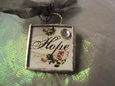 SHINNY HOPE Soldered Art Glass Pendant or by victoriacharlotte, $8.00