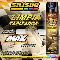 AHORA SILISUR TE DA MAS!! LIMPIA TAPIZADOS EN AEROSOL MAX 480G LIMPIA PANA, ALFOMBRAS Y TODO TIPO DE TEJIDOS