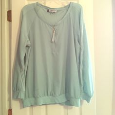 Blouse Sky blue long sleeve worn once! Tops Blouses