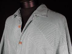 Tommy Bahama Relax M SS Mens Silk Green/Blue Camp Aloha Hawaiian Shirt EUC  #Shopping #Style #Fashion http://r.ebay.com/cB0Q54 via @eBay