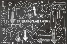 FREE this week - April 13 - 100 Hand drawn arrows by Julia Dreams on Creative Market