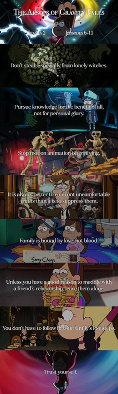 The Aesops of Gravity Falls - Season 2 Episodes 6-11