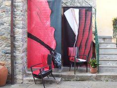 the little square of Castè - liguria Italy