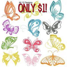 Butterflies-12 design for 1.00