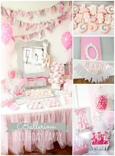 Ballerina Birthday Party Ideas!  So cute for a girl birthday party!  Capturing-Joy.com