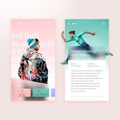 """Gefällt 855 Mal, 10 Kommentare - MakeReign. (@makereign) auf Instagram: """"#dribbbleshot: Editorial sports card design ♀️Thoughts? Check our UI cards exploration on…"""""""