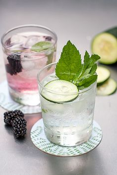"""20 Infused Water """"Recipes"""" - Style Me Pretty Living Infused Water Recipes, Fruit Infused Water, Fruit Water, Best Detox Water, Cucumber Detox Water, Mint Water, Spa Water, Yummy Drinks, Healthy Drinks"""